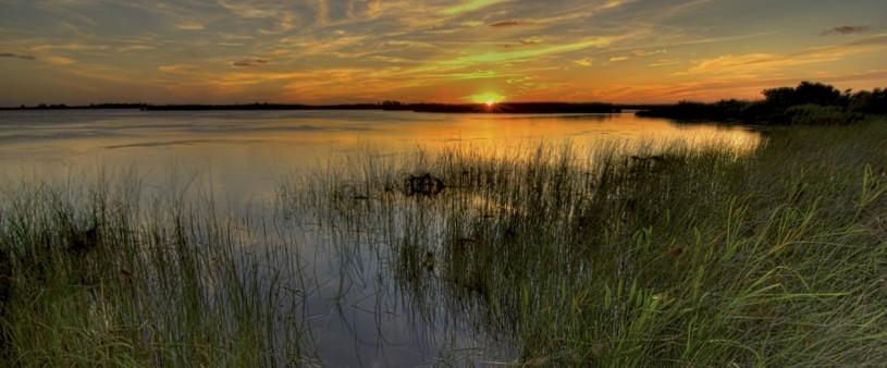 back bay sandbridge sunset