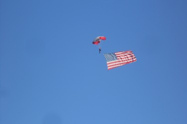 Parachuting onto the Beach during the Annual Patriotic Festival